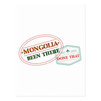Mongolia Been There Done That Postcard