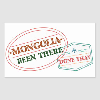 Mongolia Been There Done That Rectangular Sticker