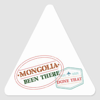 Mongolia Been There Done That Triangle Sticker