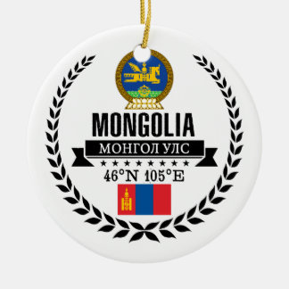 Mongolia Ceramic Ornament