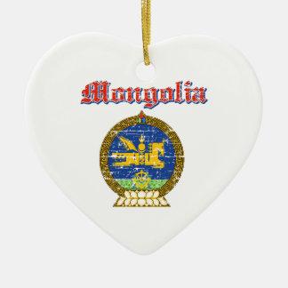 Mongolia coat of arms designs ceramic ornament