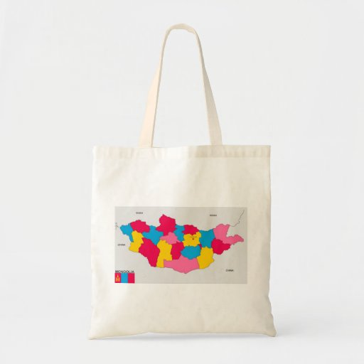 mongolia country political map flag bags