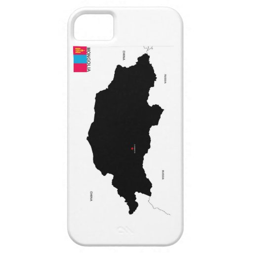 mongolia country political map flag iPhone 5 cases