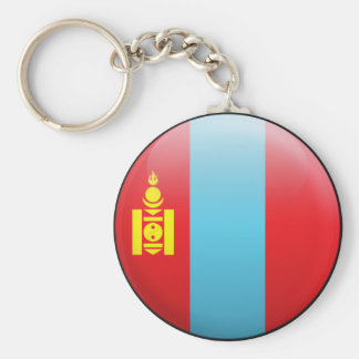 Mongolia Flag Basic Round Button Key Ring