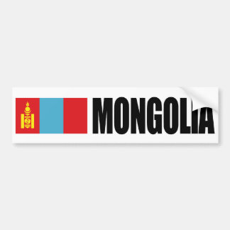 Mongolia Flag Bumper Sticker