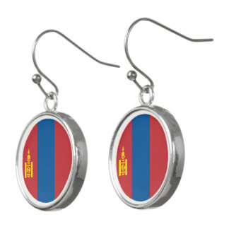 Mongolia Flag Earrings