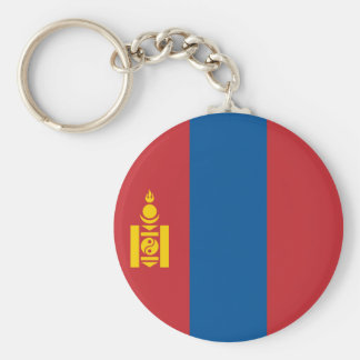 Mongolia Flag Key Ring
