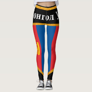 Mongolia Flag Leggings