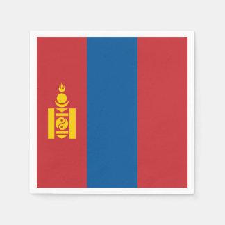 Mongolia Flag Paper Napkin
