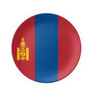 Mongolia Flag Porcelain Plate