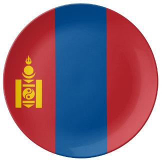 Mongolia Flag Porcelain Plates