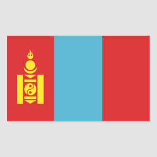 Mongolia Flag Rectangular Sticker