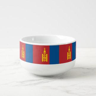 Mongolia Flag Soup Mug