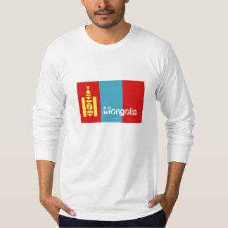 Mongolia flag souvenir tshirt
