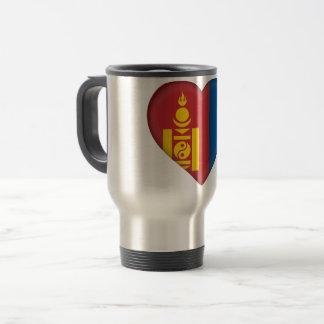 Mongolia Flag Travel Mug