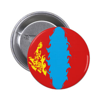 Mongolia Gnarly Flag Pinback Button