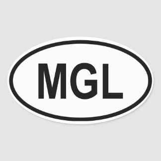 "Mongolia ""MGL"" Oval Sticker"
