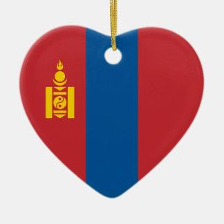 Mongolia – Mongolian Flag Ceramic Ornament