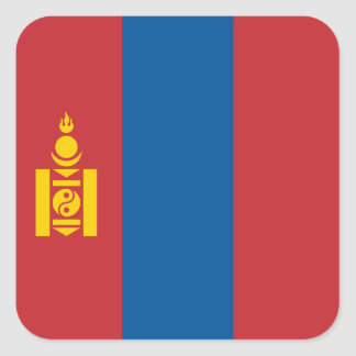 Mongolia – Mongolian Flag Square Sticker
