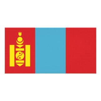 Mongolia National Flag Photo Card
