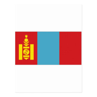 Mongolia National Flag Postcard