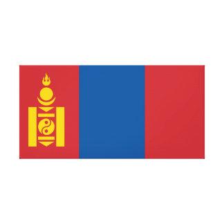 Mongolia National World Flag Canvas Print