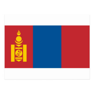 Mongolia National World Flag Postcard