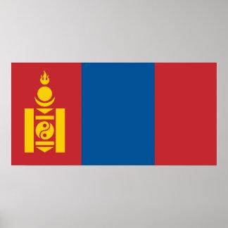 Mongolia National World Flag Poster