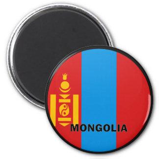 Mongolia Roundel quality Flag 6 Cm Round Magnet