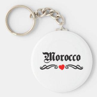 Mongolia Tattoo Style Basic Round Button Key Ring