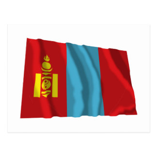 Mongolia Waving Flag Postcard