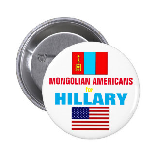 Mongolian Americans for Hillary 2016 6 Cm Round Badge