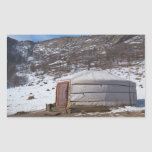 Mongolian Countryside photography Rectangular Stickers
