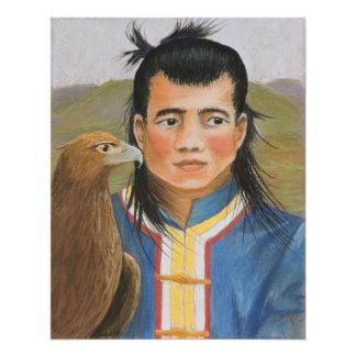Mongolian Hunters Print Photographic Print
