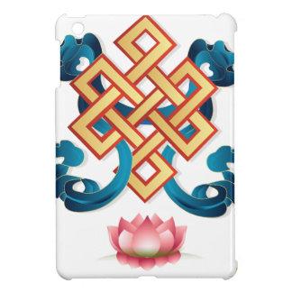 Mongolian religion symbol endless knot for decor case for the iPad mini
