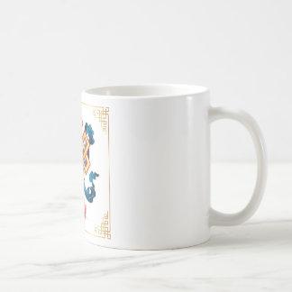 Mongolian religion symbol endless knot for decor coffee mug