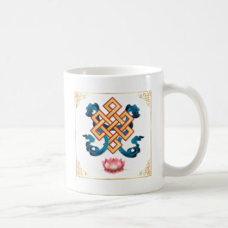 Mongolian religion symbol endless knot for decor coffee mug