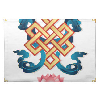 Mongolian religion symbol endless knot for decor placemat