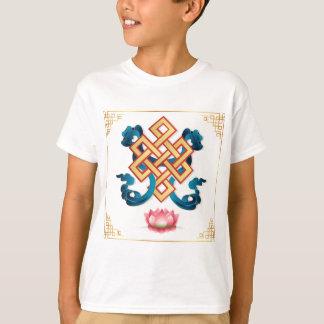 Mongolian religion symbol endless knot for decor T-Shirt