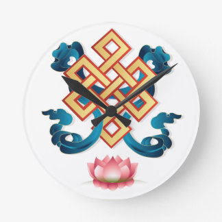 Mongolian religion symbol endless knot for decor wall clocks