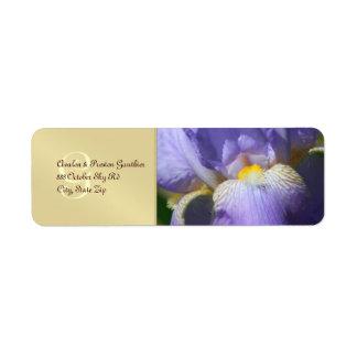 Mongram Purple Iris Wedding Address Label