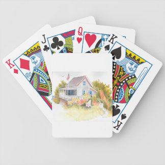 Monhegan Cottage J Kilburn Bicycle Playing Cards