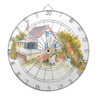 Monhegan Cottage J Kilburn Dartboard