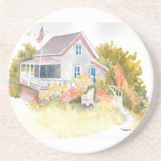 Monhegan Cottage J Kilburn Drink Coaster