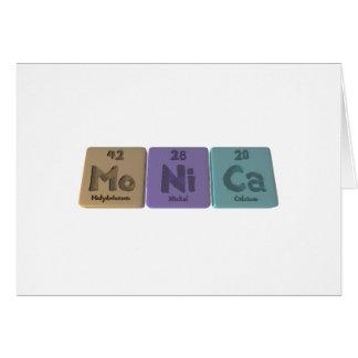Monica as Molybdenum Nickel Calcium Cards