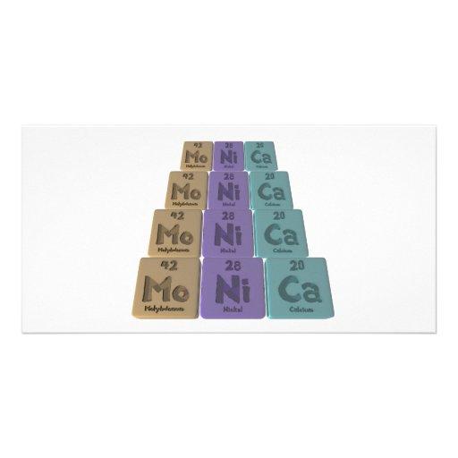 Monica as Molybdenum Nickel Calcium Customized Photo Card