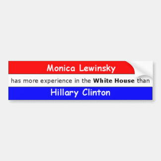 Monica Lewinsky bold Car Bumper Sticker