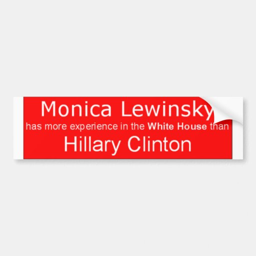 Monica Lewinsky for President! Bumper Stickers