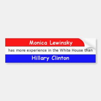 Monica Lewinsky not bold Bumper Sticker