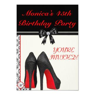 """Monica's 45th Birthday Invite 4.5"""" X 6.25"""" Invitation Card"""